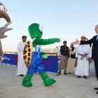 """The alien envoys who landed in Muscat, Oman, on Dec. 13, greeted Prince Albert II of Monaco, the man they presume to be our leader. """"We called Earth to ask if they had you in a can,"""" chortled the little green man with his hand out. """"But they only asked if our refrigerator was running."""""""