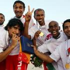 As a bit of a prank, the United Arab Emirates beach soccer squad was told that the medals were edible.