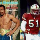 In honor of his father's boxing career, Ken Norton Jr., a former NFL linebacker, would pose in a boxing stance after he scored a defensive touchdown and punch the goal post.