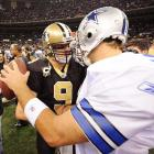 120 -- In a December 2009 game against Dallas, Brees tied Aaron Brooks' franchise record of 120 career touchdown passes.