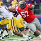 Accepted as the top nose tackle prospect available in April's  draft, Powe is coming of a disappointing season.   He's a powerful space eater in the middle and continually commands double  or even triple team blocks. Powe's work ethic and conditioning has been  questioned by league scouts.     1 st  Round  Prospect