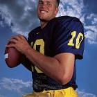 It didn't always start out like this. While attending Michigan from 1995 to 2000, Brady kept his hair high and tight.