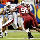 Just when Auburn fans thought it couldn't get any better, Cam Newton delivered a career day to lead his team to a victory over South Carolina and an all but certain berth in the BCS National Championship Game. Newton passed for 335 yards and four touchdowns and rushed for 73 yards and two additional scores, locking up a 13-0 season and SEC title for Auburn.