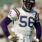 A feared defensive lineman during the 1990s, Doleman has been a semifinalist on the Hall of Fame ballot the last two years. The three-time first-team All-Pro split time in the NFL between the Minnesota Vikings, Atlanta Falcons, and San Francisco 49ers and racked up 150.5 total sacks in 15 seasons.
