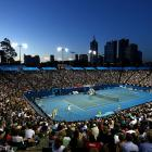 General view of Margaret Court Arena during the second-round match between Murray and Marchenko.
