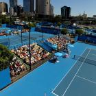 A general view of the outer courts Thursday in Melbourne.