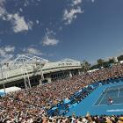 A general view of Margaret Court Arena on Friday afternoon.