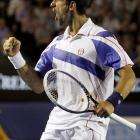 Djokovic finished off the 6-1, 7-6(5), 6-1 victory in 2 hours, 32 minutes.