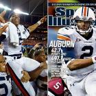 In the SEC championship game, Newton threw for a career-high 335 yards and four touchdowns and ran for two more scores as the Tigers defeated South Carolina 56-17.  Their point total set the record for most points in an SEC title game.