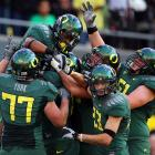 In their first real challenge of the season, the Ducks came out flat, falling behind 21-3 in the first quarter to Stanford.  But stellar performances from LaMichael James (who ran for a career-high 257 yards, three touchdowns), Darron Thomas (238 yards passing, three touchdowns ; 117 yards  rushing, one touchdown) and a Ducks defense that held Stanford scoreless in the second half rallied Oregon to a come-from-behind 52-31 victory.