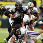 Better late than never right?  The Ducks were held scoreless in the first quarter for the first time in 2010, but they eventually wore out Washington, defeating the Huskies 53-16 in Autzen Stadium.   The balanced effort  included a 30-yard touchdown run by Kenjon Barner, who had missed the previous two games after leaving the field in an ambulance during Week 6.