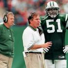 After serving from 1997 to '99 as an assistant on the New York Jets staff, Belichick was expected to succeed then head coach Bill Parcells. Once Parcells resigned in 1999, Belichick gave his surprise resignation five minutes before a news conference set to announce his hiring. The Patriots later hired Belichick, surrendering a first-round draft pick to New York because he was still under contract.