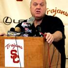 """After 20 seasons of coaching, 15 with Utah, Rick Majerus put his health before his next """"dream job"""" of coaching the USC men's basketball team in 2004. Five days after seeming ecstatic in a press conference, Majerus came to his senses and realized his health could not endure a full season. He resigned before coaching a game because he felt he was doing the USC program injustice."""