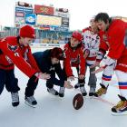Speaking of levitatin', we're told that the Washington Capitals superstar studied telekinesis under the tutelage of famed psychical researcher Alexander N. Aksakov at the Russian Imperial Ministry of Internal Affairs in 1852 and was only too happy to conduct a little demonstration for some obviously amazed kiddies before the NHL's Winter Classic at Heinz Field in Pittsburgh.