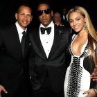 The erstwhile Alexander Rodriguez, Sean Carter and Beyonce Knowles had a regular ol' hoot at The Cosmopolitan Grand Opening and New Year's Eve Celebration at Marquee Nightclub in Las Vegas.