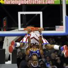 The famed Globetrotters unveiled a rather novel way to goaltend while battling their longtime rivals, the Washington Generals. Guess who won the game...