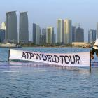 Word is that the ongoing recession has hit tennis particularly hard and the ATP Tour is barely above water this year, as evidenced by this stark photograph taken at the Qatar Open.