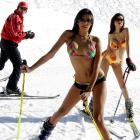 At the Lebanese ski resort Kfafdebian, the ladies demonstrated exactly why swimwear is among the most versatile forms of sports equipment ever devised by man. (FYI: Ms. Pena was Miss Venezuela 2007.)