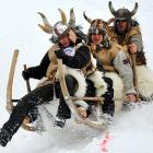 More than 90 sleds and horny participants took part in this traditional event near the Bavarian village of Garmisch-Partenkirchen on Jan. 6.