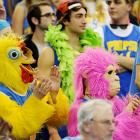 If you drink enough at Pauley Pavilion, you'll see this kind of thing whether the Bruins are playing basketball or not.