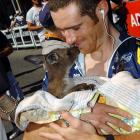 Congrats to this lucky cyclist whose spouse seems to have given birth to a kangaroo.