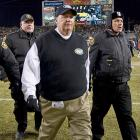 No Supe for you! (line courtesy of  The New York Post 's Mon. Jan. 24 edition): His team's season gone  poof! , the crestfallen Jets coach left Heinz Field after their AFC Championship Game loss to the Pittsburgh Steelers.