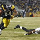 Brown made a spectacular, David Tyree-like catch on 3rd-and-19 just before the two-minute warning to put the Steelers within scoring range.
