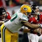 Ryan, who beat out Aaron Rodgers for a spot on the Pro Bowl team, had a miserable outing, completing 20-of-29 passes for just 189 yards -- many coming after the game's outcome was no longer in doubt. He tossed two interceptions and lost a fumble attempting a simple sneak. In two career playoff games, Matty Ice is 0-2 with six turnovers and a safety.