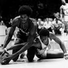 The 9-73 Sixers' record-worst season included a nice little 20-loss streak. Didn't stop leading scorer Fred Carter from trying his hardest to get Philly a victory.