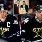 Big, bruising blueliners, the Hatchers were first-round picks (older brother Kevin by the Capitals in '84; Derian by the North Stars in '90) who each spent 16 seasons in the NHL and ended up in the U.S. Hockey Hall of Fame as members of the Class of 2010. Kevin's trade to the Dallas Stars in January 1995 united the pair for the better part of two seasons.
