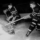 When Max, an electrifying skater and stickhandler, won his first scoring title in 1946, he and older brother Doug became the first siblings to lead the NHL in points. Doug had done so in 1943, during a season in which older sibling Reg put in an 11-game appearance that was just long enough for the Bentleys to form the NHL's first all-brother line. Usually, Max and Doug skated with winger Bill Mosienko on Chicago's famed Pony Line.
