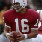 After finishing eighth in the 1969 Heisman voting, Plunkett made a fateful decision to bypass the NFL and return for his senior season. The decision paid off as Plunkett won the Heisman and led the Cardinal to their first Rose Bowl appearance in nearly 20 years.  He was chosen first overall in the 1971 NFL Draft by the New England Patriots and later led the Raiders to two Super Bowl victories.