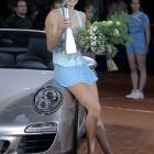def. Caroline Wozniacki, 7-6 (3), 6-3 WTA Premier, Clay (Indoor), $721,000 Stuttgart, Germany