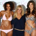 The world of water sports was moist with dewy-eyed anticipation as the former Ginger Spice unveiled her natty new Next swimwear collection at The Savoy Hotel in London. Unless we heard incorrectly, the models are included with the swimwear...