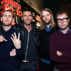 Jesse Carmichael, Adam Levine, James Valentine and Mickey Madden came seeking a table for four and a nice platter of cocktail franks at The Black Eyed Peas Super Bowl Party presented by Sports Illustrated and Bacardi.