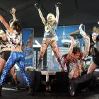 """Our $ource$ $ay the painfully $hy $inger $topped the $how with $tirring rendition$ of her popular hymn$ """"Ki$$ N Tell"""", """"$leazy"""" and """"Hungover"""" at the Bud Light Hotel $uper Bowl Party in Dalla$."""