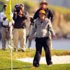 The great Carl Spackler waited for the explosives he planted to go off after his final putt at the AT&T Pebble Beach National Pro-Am. Sure enough,  he won.