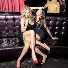 Saucy SI swimsuit models, sans swimsuits, at a soiree for the staid issue at LAX Nightclub in Las Vegas.