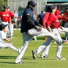 Aging veteran Big Papi began the process of grooming his replacement Little Papi as the Red Sox took to spring training in fabulous Fort Myers, Florida.