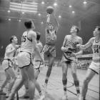 Rosenbluth shoots over Duke during the Dixie Classic in Raleigh, N.C.