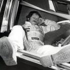 Even legends need their beauty sleep. Here, Earnhardt catches a few Zs before the Atlanta 500 in Hampton, Ga.