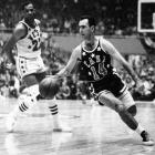 Bob Cousy scored 10 of his 20 points in overtime, led the East to a 98-93 victory and wrestled the All-Star MVP award away from Jim Pollard. Pollard, the game's high scorer, was named MVP before the game went to overtime.  But after Cousy's overtime performance, they held a re-vote, and Cousy became the MVP.