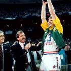 A late addition to the All-Star Game, Tom Chambers represented the hometown Sonics by scoring 34 points during the West's 154-149 overtime victory over the East in Seattle.  Chambers was playing in place of Ralph Sampson, who had sustained a knee injury in the week prior to the All-Star Game.