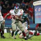 Amid typical London weather, the Giants beat the Dolphins 13-10 in a messy affair that rendered offense nearly impossible.  It was the first regular season NFL game held outside of North America, and while it wasn't an auspicious start, the NFL has continued the tradition.