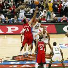 Playing without All-Star guard Ray Allen (ankle), the Sonics still managed to defeat the Clippers 109-100 in the season opener in Saitama, Japan.  It was the sixth time the NBA had staged regular season games in Japan.