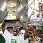 If you include 1999, Michigan State actually made three straight Final Fours. Oh, did the Spartans boast an embarrassment of riches. The 2000 national championship team guided by seniors Mateen Cleaves, Morris Peterson and A.J. Granger gave way to Charlie Bell (top right) and Zach Randolph and Jason Richardson (bottom right) in 2001. Somehow, the Spartans made it back to the Final Four despite the changeover but fell to Arizona.