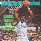 Patrick Ewing averaged 23 points and shot an astounding 78 percent from the field during Georgetown's 1984 Big East title run, but Ewing saved his best for the title game against Syracuse.  In the overtime thriller at Madison Square Garden, Ewing tallied 27 points (including nine points in overtime), 16 rebounds and five blocks as the Hoyas outlasted the Orange 82-71.