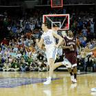 """The MVP of the 2008 ACC tournament averaged 22 points during North Carolina's run to the title, but it was two points against Virginia Tech that cemented him as a Tar Heels hero.  With seconds remaining in a tied semifinal match against Virginia Tech, Hansbrough scooped up a loose rebound and nailed a fadeaway jumper to propel UNC to the championship game.  Elated, Hansbrough marched back down the court pumping his fists, a demonstration even he deemed excessive.  """"I'm not going to lie,"""" he said of the celebration. """"I kind of overdid it.""""  Wouldn't you?"""
