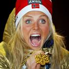 You'd wear a similar expression if you'd gotten snow down your shorts while winning the 30k mass start for women at the Nordic Skiing World Championships in fabulous Oslo.