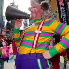Either the Ringling Bros. and Barnum & Bailey shebang is in town or the Mets were conducting a little pep rally in New York City's fabulous Times Square.